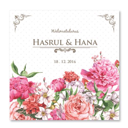 Kad Kahwin Floral-45